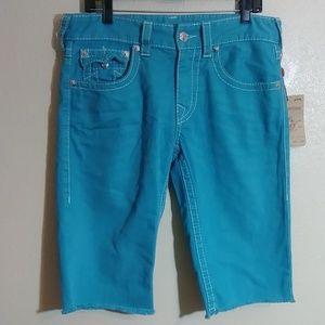 #180 True Religion Straight Leg Shorts